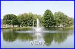 1.2 HP CasCade 5000 Floating Pond Fountain Aerator 100ft Cord, Light & Timer