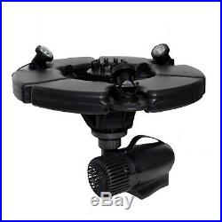 1/2 HP pond boss floating fountain with lights. Easy to install, uses 230W