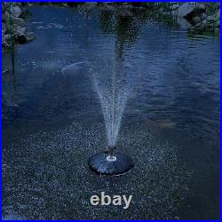 13 Floating Fountain with 750 GPH Pump with White LED Light Ring TGFD-13-WHT