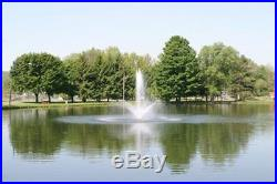 1hp CasCade 5000 Floating Pond Fountain Aerator 100FT Cord, Lite & 4 Ext Pipes
