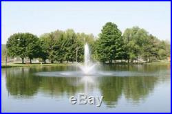 1hp CasCade 5000 Floating Pond Fountain Aerator 100ft Cord with Light & Timer