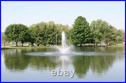 1hp CasCade 5000 Floating Pond Fountain Aerator with 100 FT Cord & Light