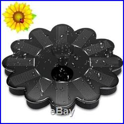 20XSolar Fountain Floating Garden Water Fountain Pool Pond Decoration Sola Q6A2