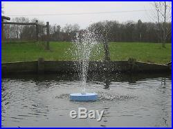600GPH FLOATING Pond Pool koi WATER FOUNTAIN Aerator & COLOR LITE & 2 NOZZLES