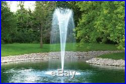 Airmax EcoSeries 1/2 HP Floating Pond Fountain 3 Spray Nozzles Included