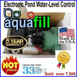 AquaFill Electronic Auto Water Level Float Valve-Pond, Fountain, Pool, Spa, HotTub