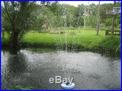 BIRCHWOOD1,000gph! FLOATING Pond Pool FOUNTAIN up to 8ft HIGH! With 3 Nozzles