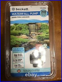Beckett 3550 GPH Submersible Pond Fountain Waterfall Pump Up To 25ft