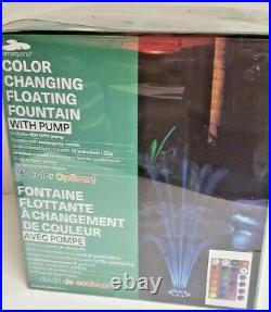 Color Changing Floating Fountain with Pump Model #71141