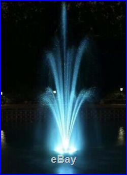 Color LED Changing Pool Pond Floating Fountain-with 3 Changeable Spray Nozzles
