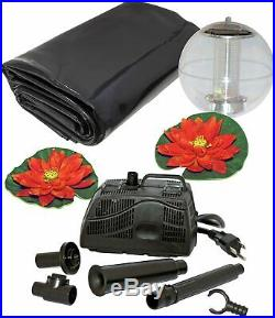 Complete Pond Kit 6x9 PUMP WITH FILTER AND FOUNTAIN FLOATING SOLAR LIGHT