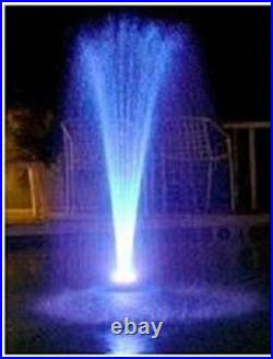 Custom Pro 1100 gph Floating Water Fountain Pump withWhite LED Lights-25' cord