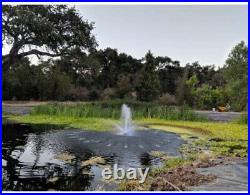 Custom Pro FT 14000 Floating Pond Fountain And Aerator Complete Kit With 14,000