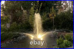 Custom Pro FT14000 Deluxe Floating Aeration Fountain withLights, 3 Nozzles, Remote