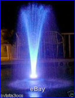 Custom Pro Floating Water Fountain with 48 White LED Lights & 600 GPH Pond Pump