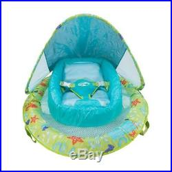 Fabric Infant Baby Spring Swimming Pool Float with Canopy (2-Pack)