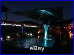 Floating LED Pool Pond Fountain NEW now with 3 SPRAY nozzles HUNDREDS of LED