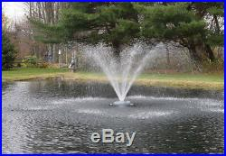 Floating Pond Aqua Fountain with Nozzles aeration 100ft power cord -1HP 115v
