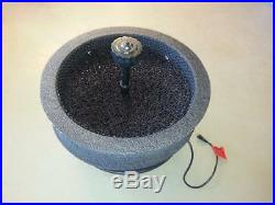 Floating Pond Fountain+120 LED White Ring Light, 5200 GPH Pump, Multitier Nozzle