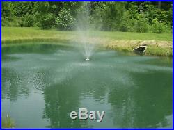 Floating Pond Fountain 3/4 HP, 6360 GPH with 100' Power Cord, 120 volt, & Timer