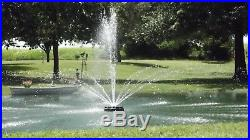 Floating Pond or Lake Fountain 1/2 HP 115V, 6 Color (RGB) Lights, 75ft Cord