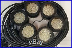 Floating Pond or Lake Fountain 1 HP 115V, 6 Color (RGB) Lights, 100ft Cord