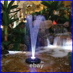 Floating Spray Fountain 12 in. L x 12 in. W with 48 LED Light and 550 GPH Pump