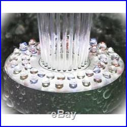 Floating Spray Fountain 48 LED Light 550 GPH Pump Landscape Ponds Accessories