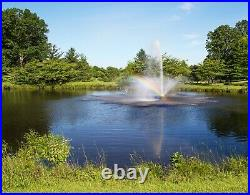 Fountain by Admiral Lake & Pond. Industrial grade 1 HP motor with 100' cord