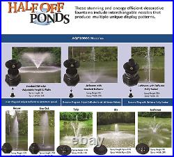 Half Off Ponds Aqua Marine Floating Fountain With 36 Float, (6) Interchangeable