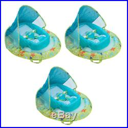 Infant Spring Inflatable Swimming Pool Float with Canopy (3-Pack)