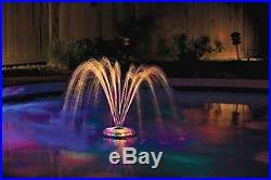 Inground Above Ground Pool Light Up Multi Color LED Floating Fountain Underwater