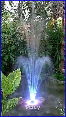 LED Color Changing Pool Pond Floating Fountain Hundreds of LED 3 spray nozzles