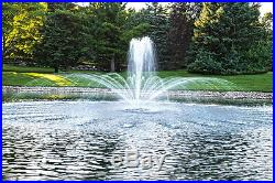 Lake & Pond Water Garden Floating Fountain 3 pattern with100' Cord 1/2hp Aerator