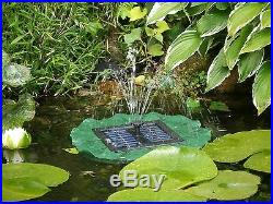 Lily Solar Water Fountain Pond Feature Garden Yard Outdoor Floating Decoration