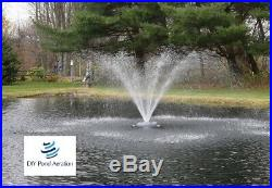 NEW 1/2 HP Floating Pond Aerating Fountain with 2-Nozzle Patterns 100' cord 115v