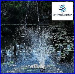 NEW 1/4 hp Floating Fountain Water Pump With Lights Aerates 3 Pattern 3yr Warranty