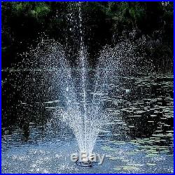 Oase 45393 1/2 HP Floating Fountain Kit with Lights -Large Ponds & Water Gardens