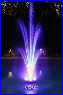 Ocean Mist Floating Pond Light Ring with multi-color 6x60 (360) LEDs-for fountains