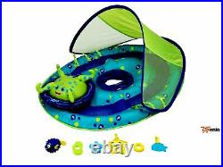 Octopus Inflatable Baby Spring Pool Float Activity Center With Canopy Rsenio