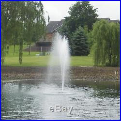 Outdoor Water Solutions Floating Pond Fountain with LED Lights 1/2 HP 4 Nozzles