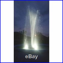 Outdoor Water Solutions Floating Pond Fountain with LED Lights 1 HP 4 Nozzles