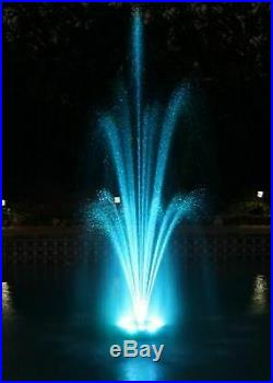 Over 700 LED Color Changing Pool Pond Floating Fountain with multiple spray head