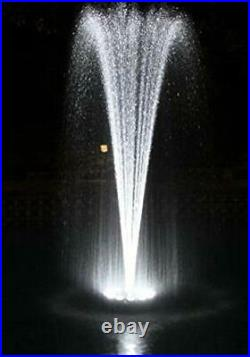 Patriot Small Floating Fountain with White LED Lights 600 GPH Pump
