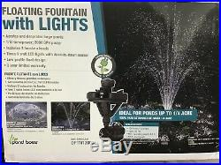 Pond Boss -DFTN12003L 1/4 HP Floating Fountain with 3 Foutain Heads & 3 LED Lights
