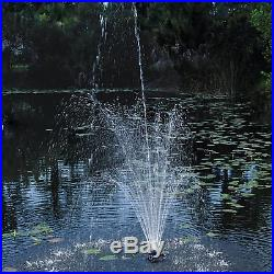 Pond Boss Dftn12003L Floating Fountain With Lights 50 Foot Power Cord 1/4 Hp