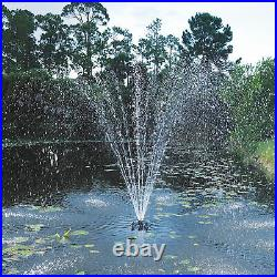 Pond Boss Floating Fountain with LED Lights-1/2 HP Pump, Model# PROFTN51003L