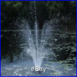 Pond Boss PROFTN51003L 1/2 HP Floating Fountain 3 Foutain Heads & 3 LED Lights