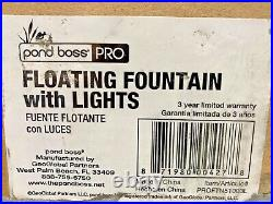 Pond Boss Pro Item# PROFTN51003L Floating Fountain With Lights P-11