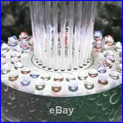 Pool Fountain Ponds Floating Spray Water Color Changing Outdoor LED Light Pump